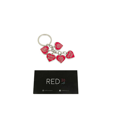 Human Made X Girls Dont Cry Love Keychain Red