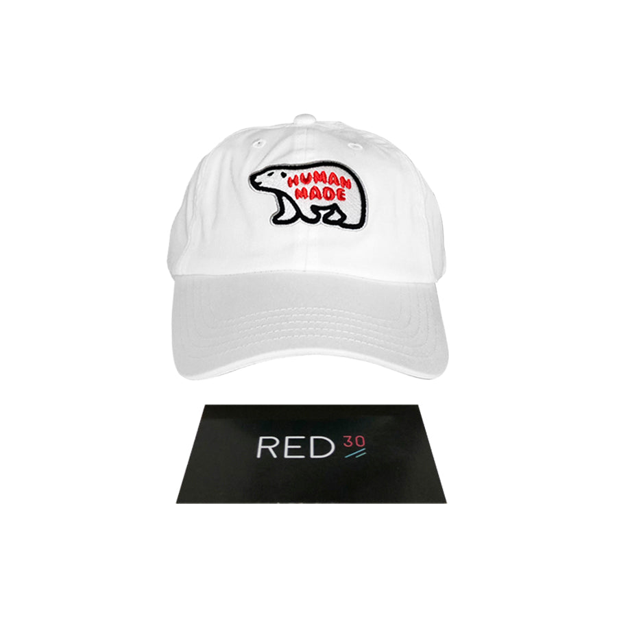 Human Made Bear Cap White