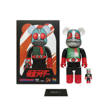 Load image into Gallery viewer, Medicom Kamen Rider No 2 400% + 100% Bearbrick