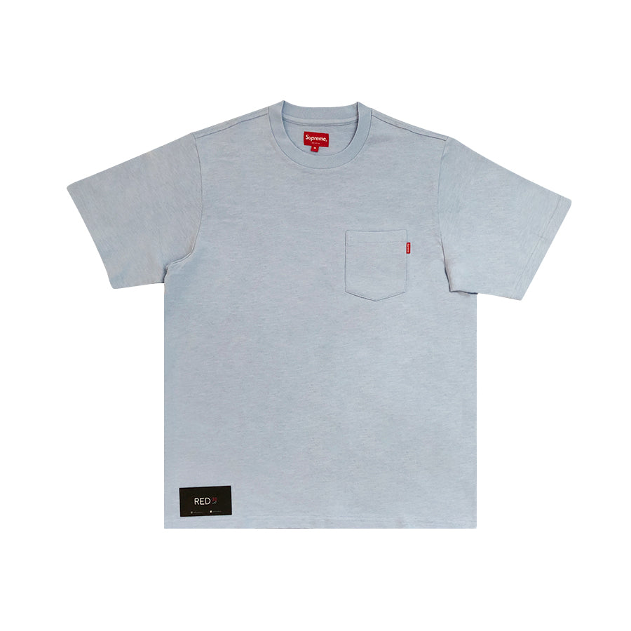 Supreme S/S19 Pocket Tee Light Blue