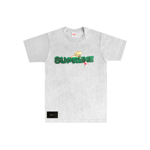 Supreme Lizard Tee Heather Grey