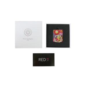 Murakami Flower Phone Ring Red Multicolor