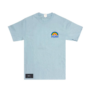 Noah Rainbow Tee Light Blue