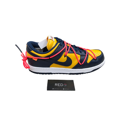 Nike X Off-White Dunk Low University Gold Midnight Navy