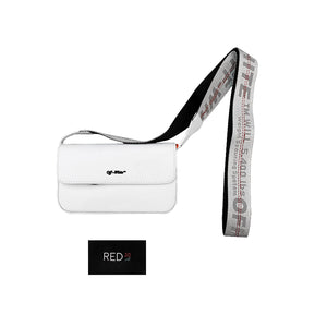 Off White Crossbody Flap Bag White