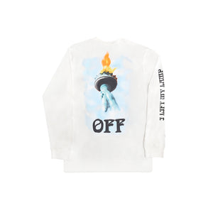 Off White Liberty Long Sleeve Tee White