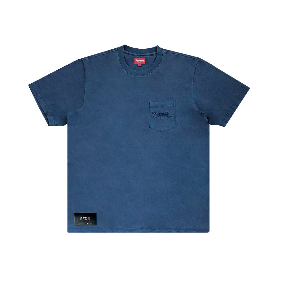 Supreme SS/19 Overdyed Pocket Tee Navy