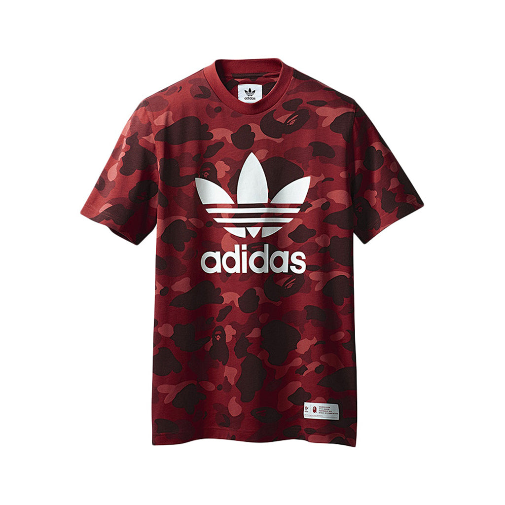 new concept d700c c7679 Load image into Gallery viewer, A Bathing Ape x Adidas Adicolor Tee Raw Red  ...