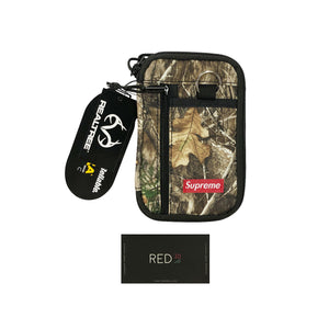 Supreme FW19 Small Zip Pouch Real Tree Camo