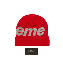 Load image into Gallery viewer, Supreme Big Logo 3M Reflective Beanie Red