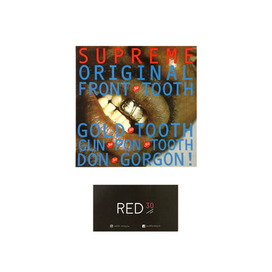 Supreme Gold Tooth Sticker