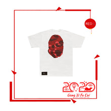 Load image into Gallery viewer, A Bathing Ape Bape Head Red Camo Tee White (CNY)