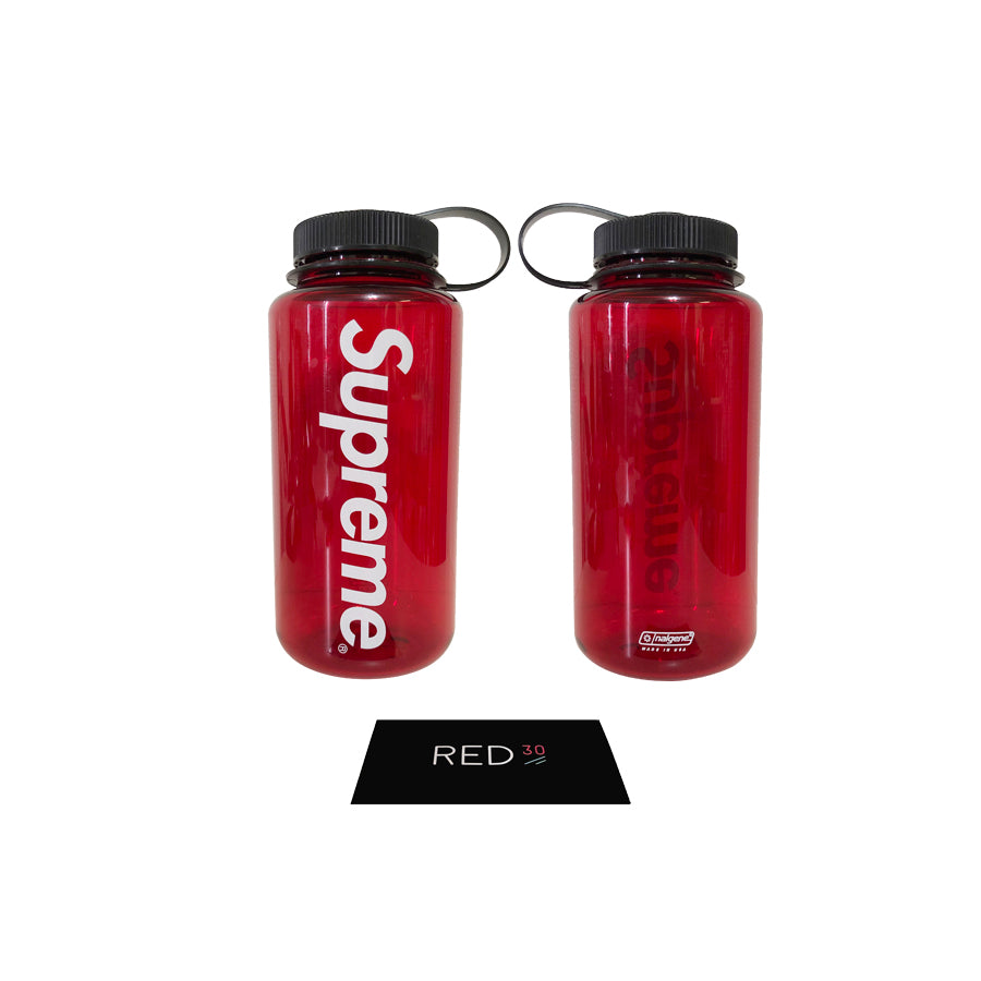 Supreme Nalgene 32oz Bottle Transparent Red