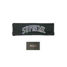Load image into Gallery viewer, Supreme New Era® Sequin Arc Logo Headband Black