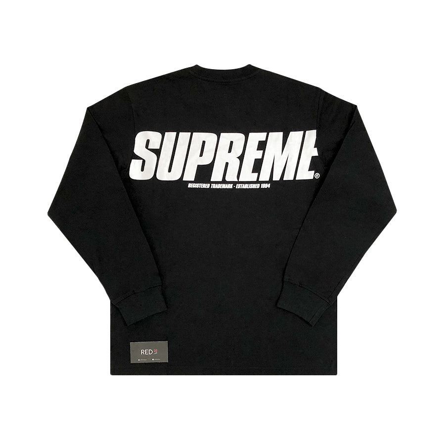 Supreme Trademark L/S Tee Black