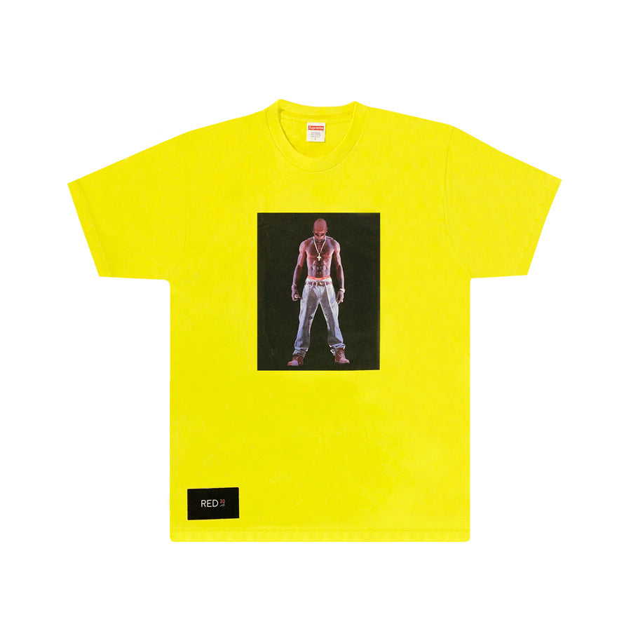 Supreme Tupac Hologram Tee Yellow