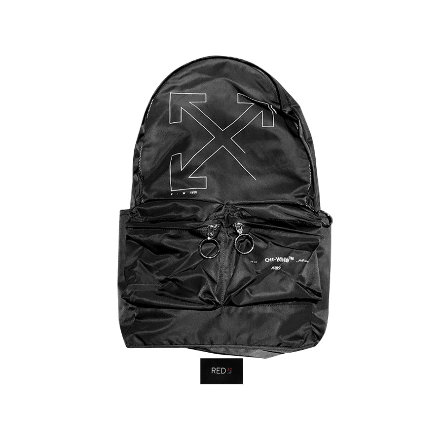 Off White Unfinished Reflective Backpack