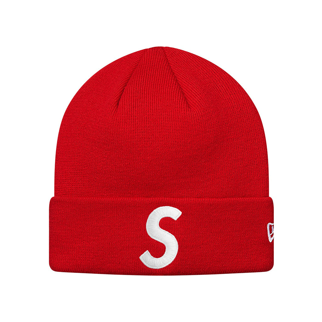 Supreme New Era S Logo Beanie Red