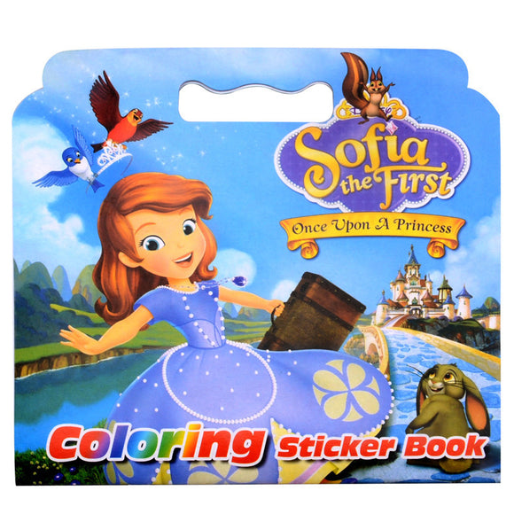 16 Pages Girl The First Coloring Sticker Book For Children Adult Relieve Stress Kill Time Graffiti