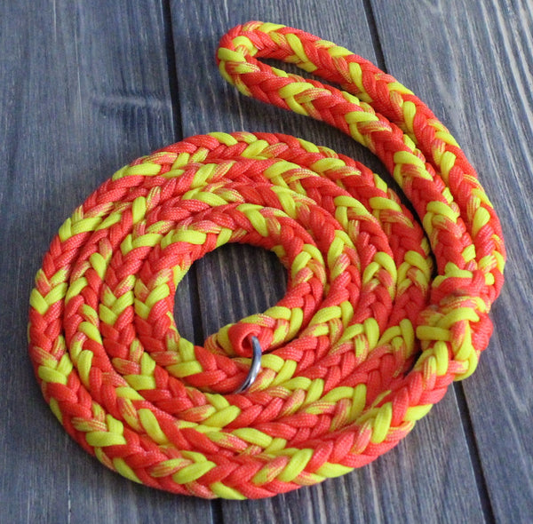 Orange and Yellow Paracord Leash