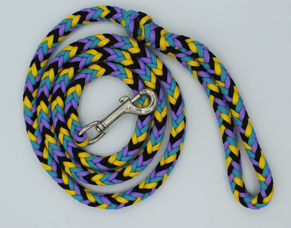 Peacock Paracord Dog Leash by The Leash Ladies