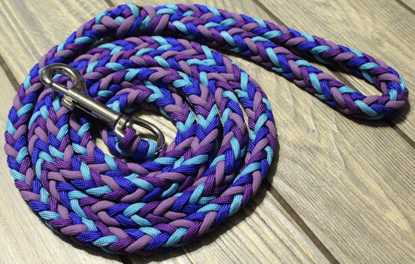 Blue Rhapsody Paracord Leash by The Dog Ladies