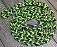 Green Whimsy Paracord Dog Leash by The Leash Ladies