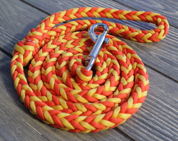 Gloriosa Paracord Dog Leash by The Dog Ladies