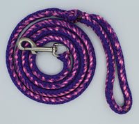 Renegade Country Girl Loves Purple Paracord Dog Leash by The Leash Ladies
