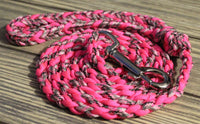 Pink Camo Twisted Leash by The Leash Ladies