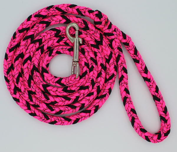 Pink Snake Paracord Dog Leash by The Leash Ladies