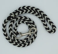 Black and Silver Grey Paracord Dog Leash by The Leash Ladies