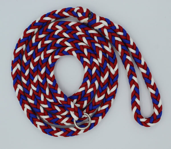 Red, White, and Blue Paracord Dog Leash by The Leash Ladies