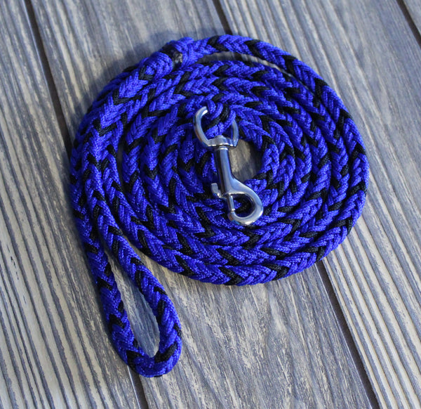 Black and Blue Paracord Dog Leash by The Dog Ladies