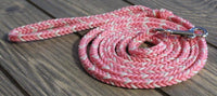 Pink and White Paracord Leash