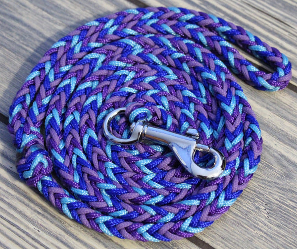 Hawaii Blue Paracord Dog Leash by The Dog Ladies