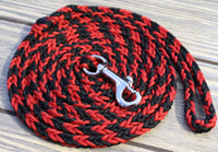 Red and Black Paracord Leash