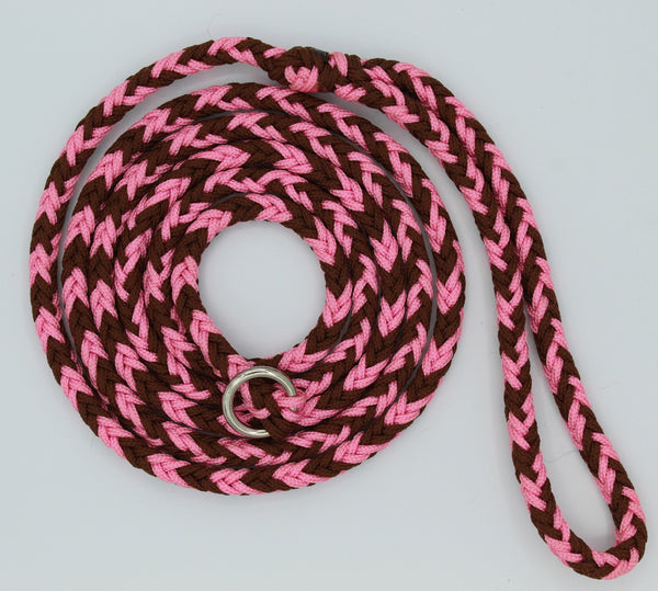 Rosy Brown Paracord Dog Leash by The Leash Ladies