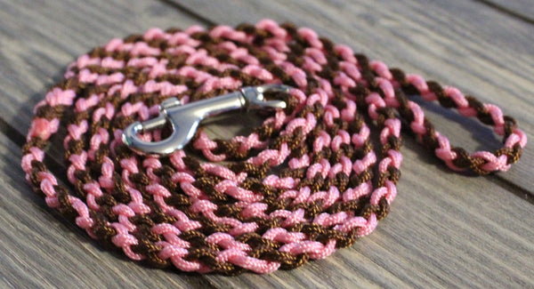 Pink and Brown Twisted Leash