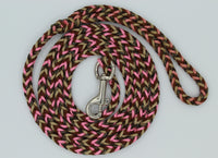 Pinky Camo Paracord Dog Leash by The Dog Ladies