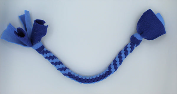 Double Twist Blue Two-Tone Tug Toy by The Leash Ladies