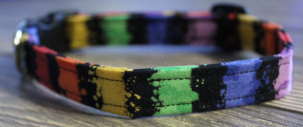 Colorful Stripes Standard Dog Collar