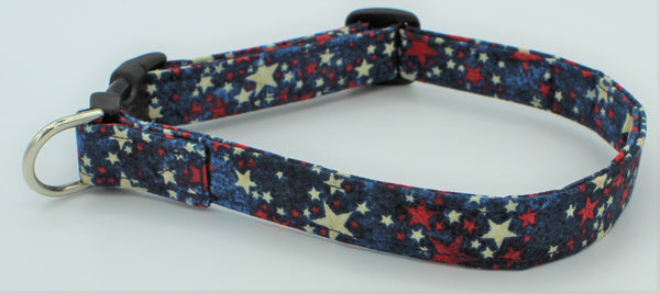 Just Stars Fabric Dog Collar