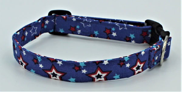 Red, White and Blue Stars Standard Dog Collar