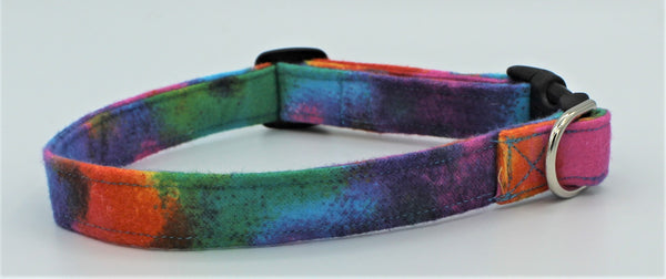 Tye Dye Flannel Dog Collar