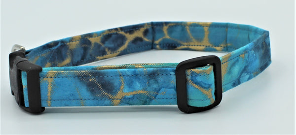 Teal and Gold Dog Collar