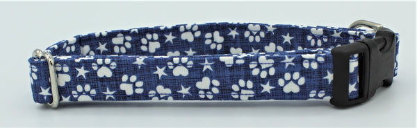 Patriotic Paw Print Dog Collar