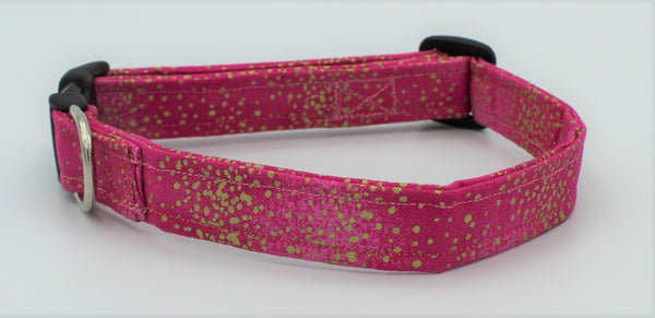 Pink and Gold Dog Collar