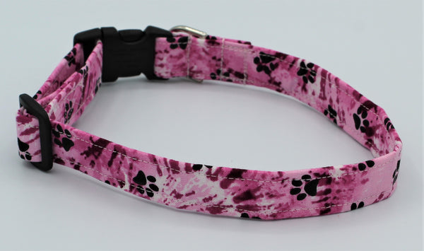 Pink Tye Dye Dog Collar
