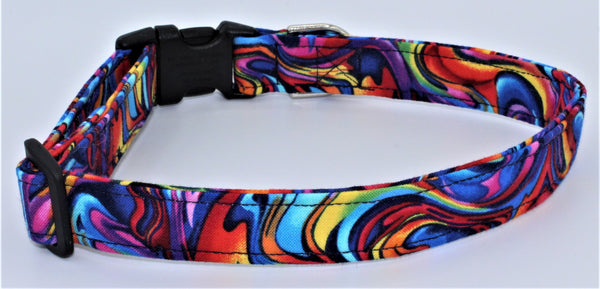 Tye Dye Swirls Dog Collar